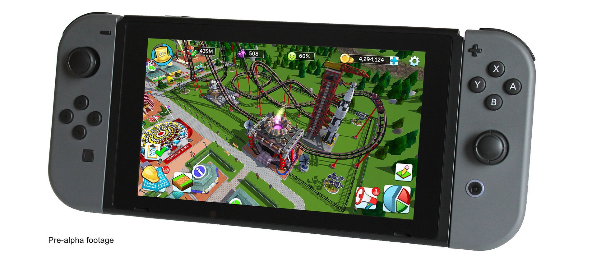 Rollercoaster tycoon sur Switch